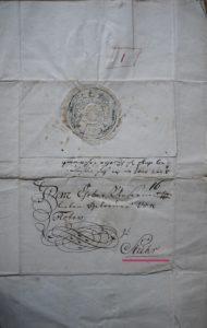 Brief d. herzögl.Verwaltung v. 19.8.1748 nach Stuhr(!)