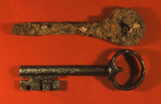 Stuer, Wasserburg, Fund (1980er Jahre): Schlüssel, Foto: Archiv S.Weckwerth