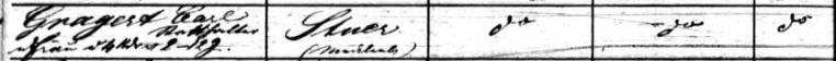 """Passagierliste Segelschiff """"Howard"""", Statthalter (Gut Stuer) Gragert,1850"""