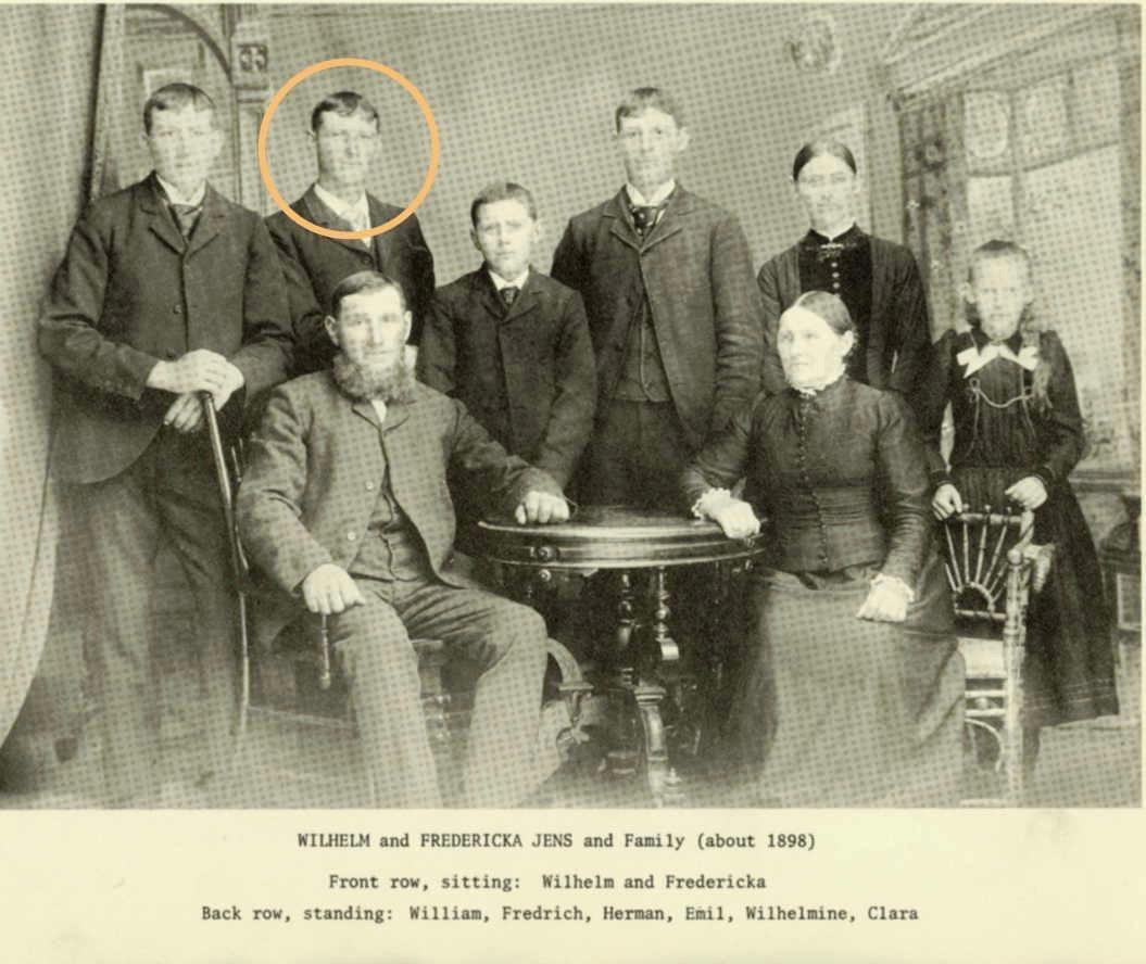 Familie Jens aus Stuer-Vorwerk, 1898 in den USA