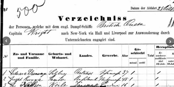 British Queen,25.10.1870, 29 Passg.