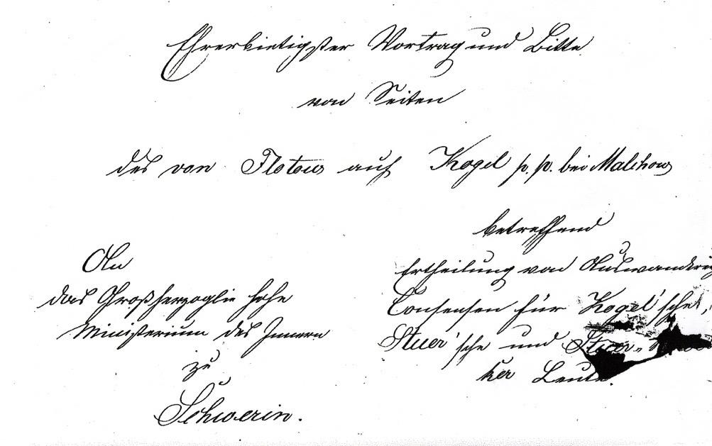 Antrag Auswanderungskonsens d. Gutsbesitzer August von Flotow für Unteranen 23.9.1870