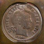 Half Dime,1906, 2008 gefunden beim Graben auf ehem.Hof Schrödera