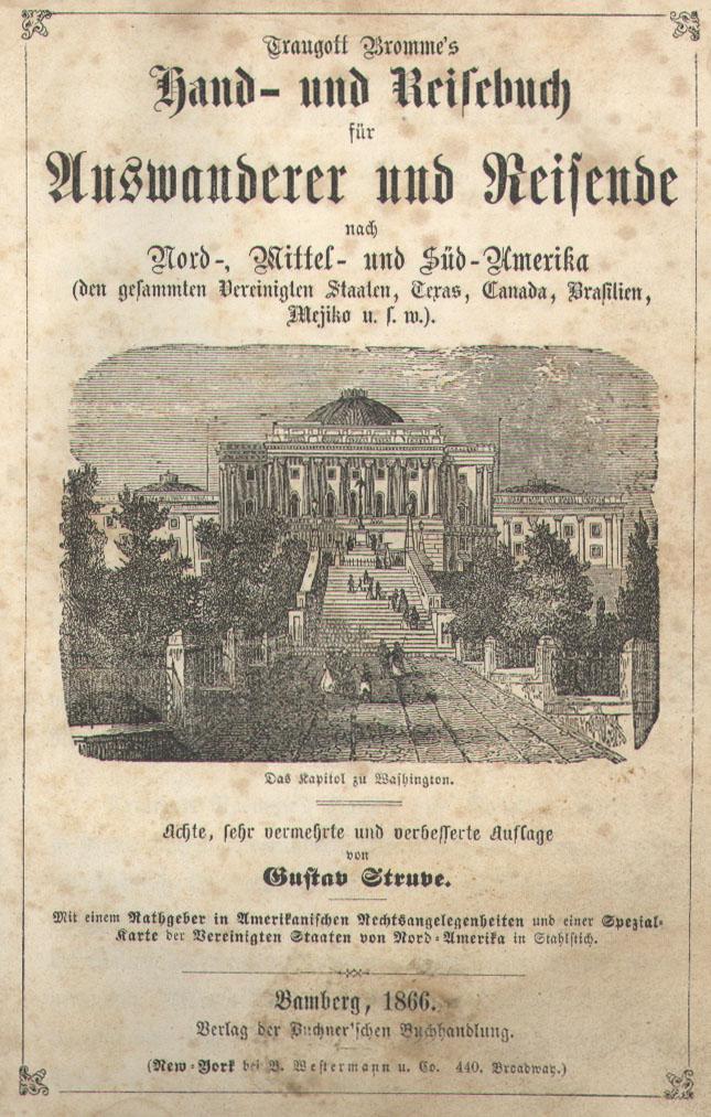 Bromme Hand- und Reisebuch für Amerika, 1866