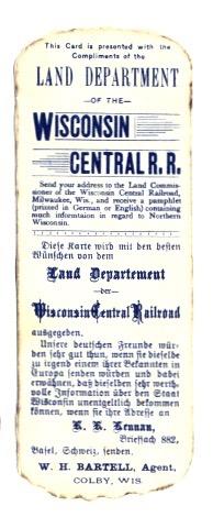 Werbung für Deutschsprachige Einwanderer