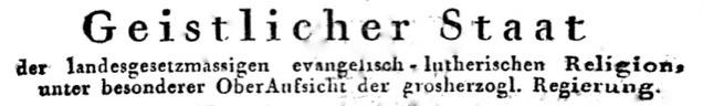 Abteilung des Mecklenburg-Schwerinischen Staatskalenders