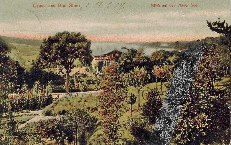 Bad Stuer, Postkarte um 1900, bearbeitet, gelaufen 1907