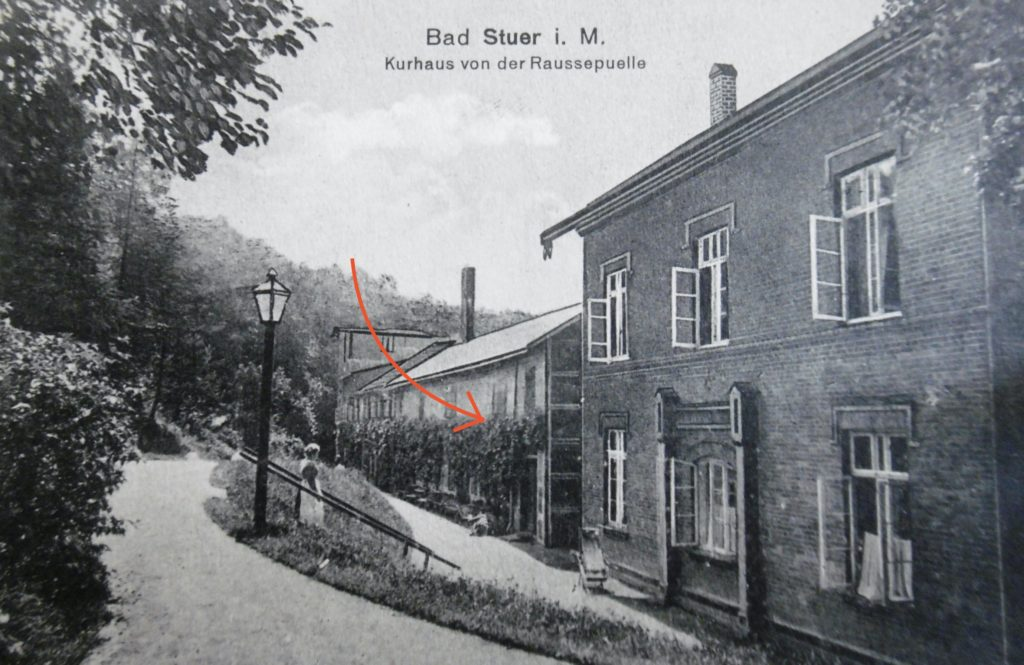 Wasserheilanstalt Bad Stuer, Badehäuser, im 1900