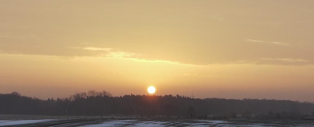 Sonnenaufgang, Stuer, Mecklenburg, 2016