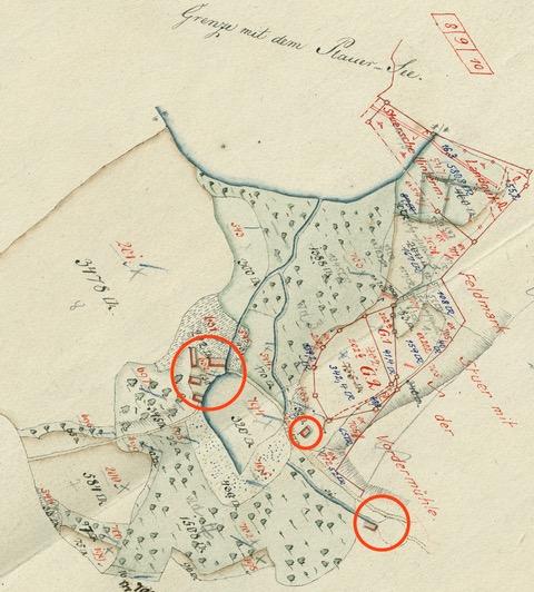 Plan von der Stuer Hinter Mühle, kopiert 1825