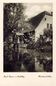 Eine wohl fälschlich Stuer-Hintermühle zugeordnete Mühle, Postkarte 1930er Jahre