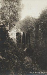 Ruine d.Sägemühle Stuer, Postkarte um 1900