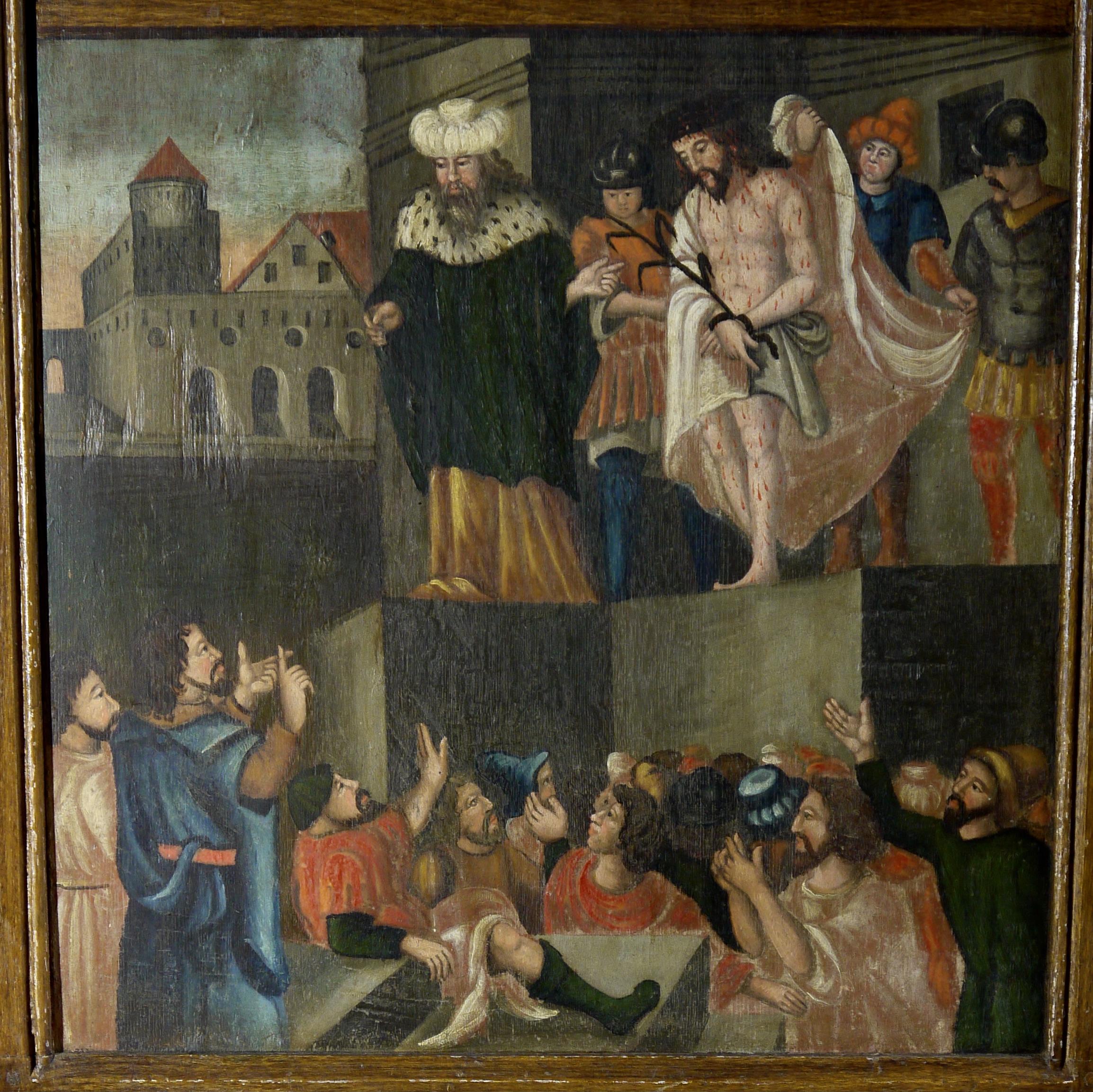 Stuer, barocker Flügel, Stuer, Barocktafel, Passion, Pontius Pilatus