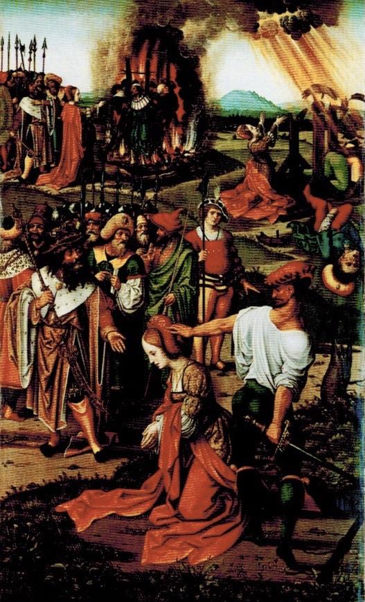 Hochaltar, Pfarrkirche Güstrow, Flügel, Martyrium der Katharina von Alexandrien