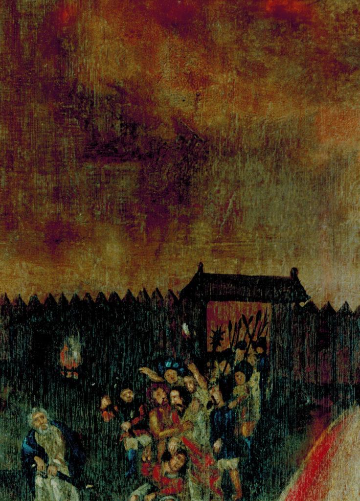 Flügelretabel,Stuer,barocke Flügelbild, Gethsemane,Detail