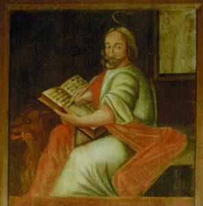 Altartafel Stuer, 1688, Evangelist Markus