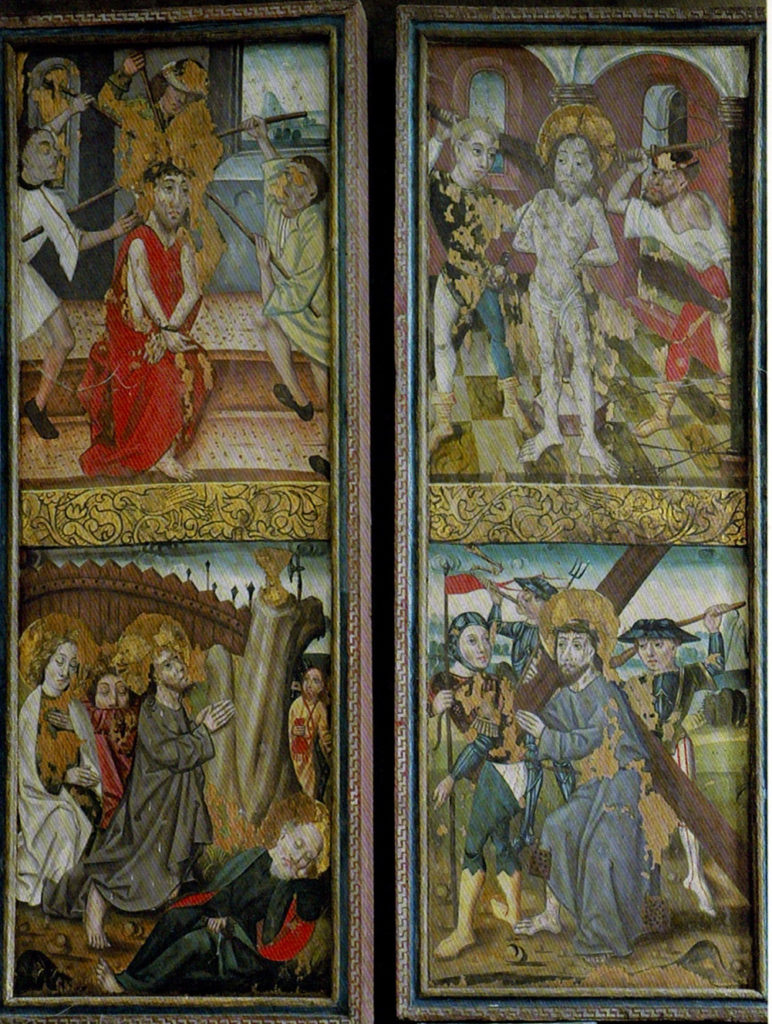 Lindow, Mecklenburg, Marienretabel, Flügel, gotische Bemalung, Passion