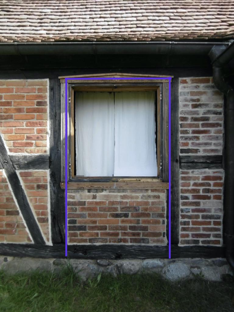 Wohn-Stall-Haus eines Erbpachtbauern von 1832 in Stuer/ Mecklenburg, Ehemaliger Eingang zum Pferdestallbereich des Wohnhauses