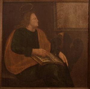 Altartafel Stuer, 1688, Evangelist Johannes