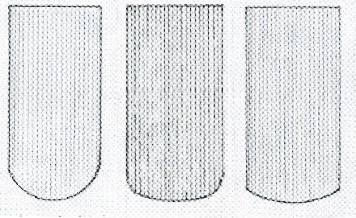 Schnittformen des Ziegelfußes von Biberschwanzziegeln