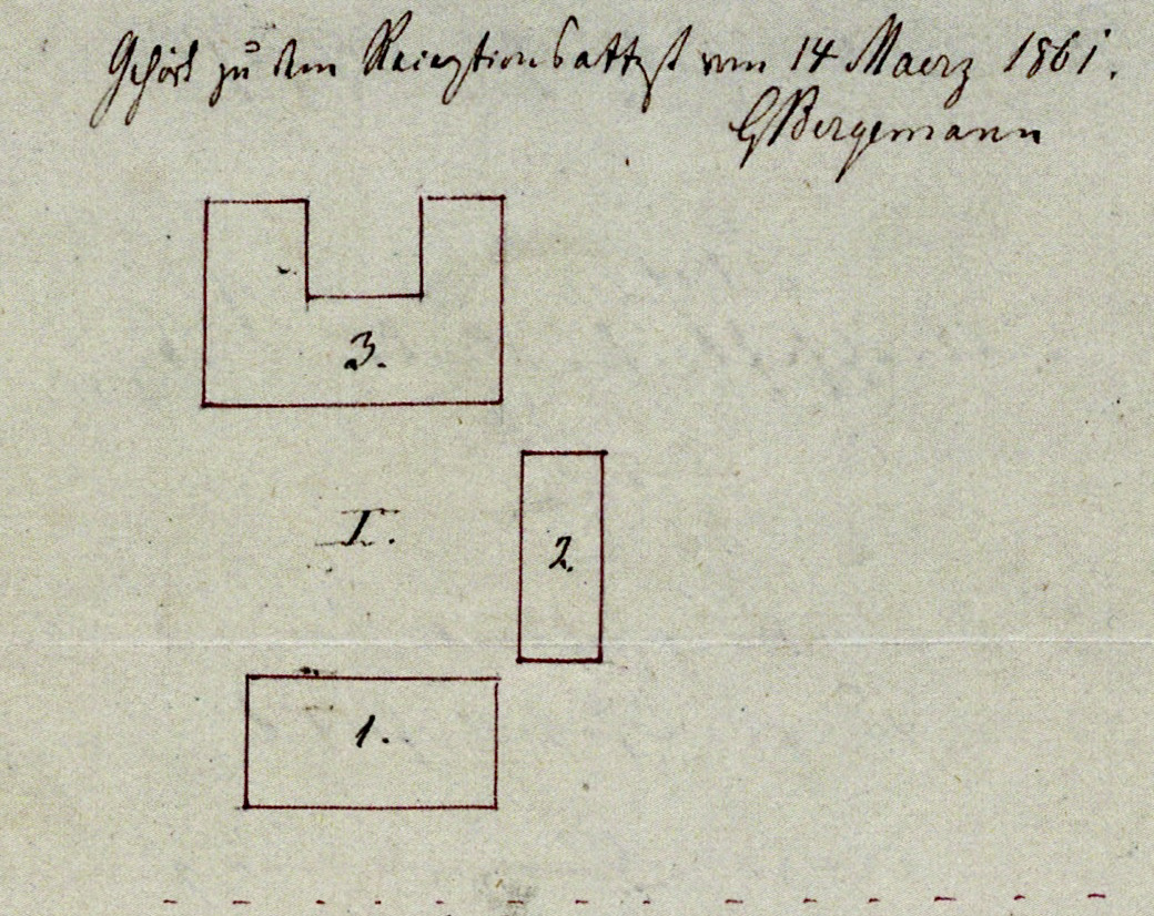 Wohn-Stall-Haus eines Erbpachtbauern von 1832 in Stuer/ Mecklenburg, Ein zweiter Stall-Scheunen-Bau ergänzte 1861 den Hof