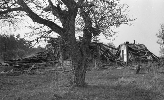Stuer/ Satow; Wohnhaus des gegen 1830 dort angesiedelten Abdeckers, Zustand 1983