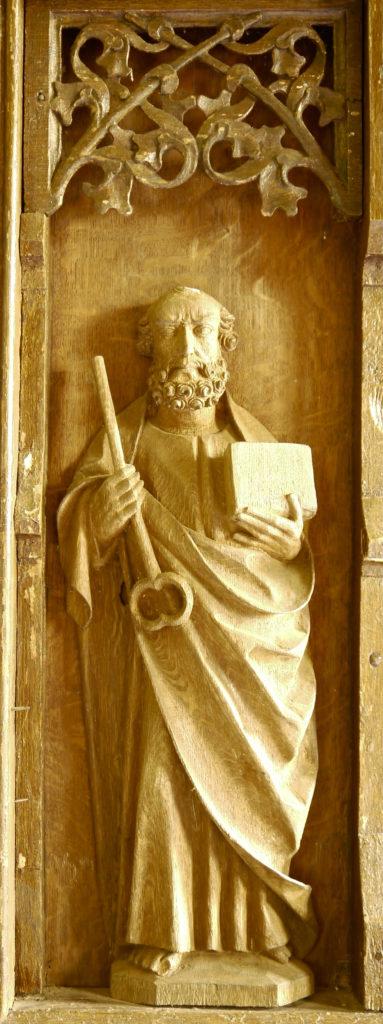 Flügelretabel, Stuer, spätmittelalterlich, Petrus, Schreinnische