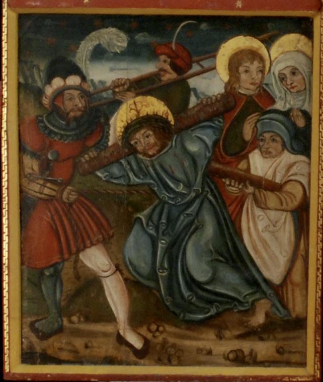 Spätmittelalterliche Altartafel mitPassionsdarstellung, Schmiedeberg/ Uckermark, Foto: Dirk Jacob